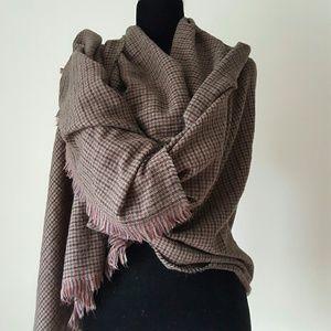 Zara wrap oversized scarf